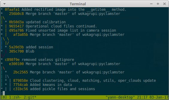 git log --oneline --decorate --all --color --graph